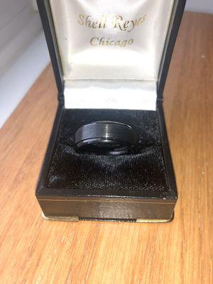 8mm Tungsten Carbide Black Wedding Band Size 10 for Sale in Joliet, IL