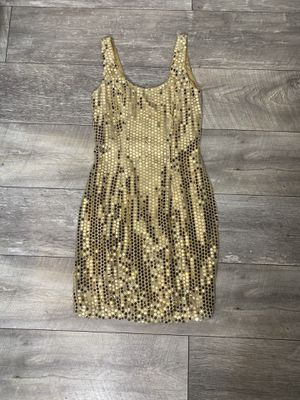 Roberta vintage 1990's gold mini dress for Sale in Lynwood, CA