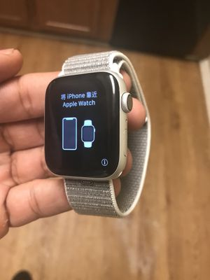 Unused Apple Watch Series 4 (GPS + Cellular , 44mm) - New & Silver Aluminum Case with Seashell Sport Loop (PRICE IS FIRM. NO NEGOTIATIONS!!!!!) for Sale in Chester, VA