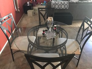 Glass top table and chairs for Sale in Phoenix, AZ