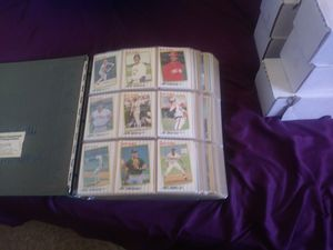 Baseball cards a book and 12 boxes for Sale in Chicago, IL