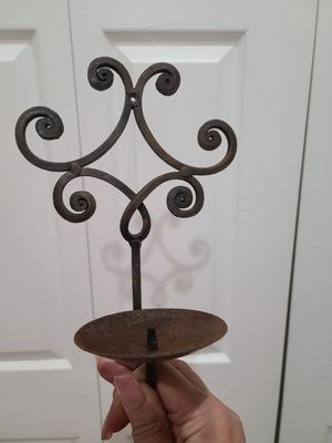 Rod iron candle holder wall decor for Sale in Winter Haven, FL