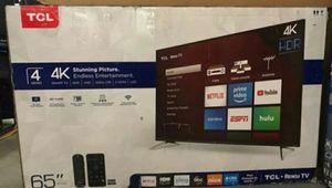 "65R613 65"" TCL UHD ROKU TV for Sale in Las Vegas, NV"