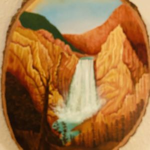 Waterfall In Mountains Signed By Artist for Sale in Portland, OR