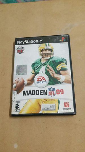 Madden NFL 09, PS2 for Sale in El Cajon, CA