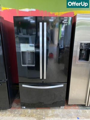 🚚💨Black Whirlpool Refrigerator Fridge Must go! #1089🚚💨 for Sale in Orlando, FL