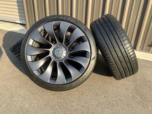 "NEW Tesla Model Y Performance Factory OEM 21"" Uberturbine Wheels & Tires Set rims for Sale in Brighton, CO"