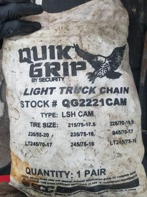 Quick Grip light truck chains for Sale in LAUREL PARK, WV