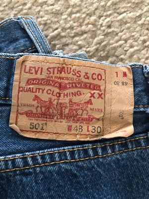 501 Levi Strauss blue color jeans for Sale in Aurora, CO