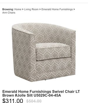New light brown design swivel chair for Sale in San Gabriel, CA