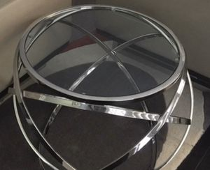 Modern stainless glass/steel end table for Sale in Miami, FL