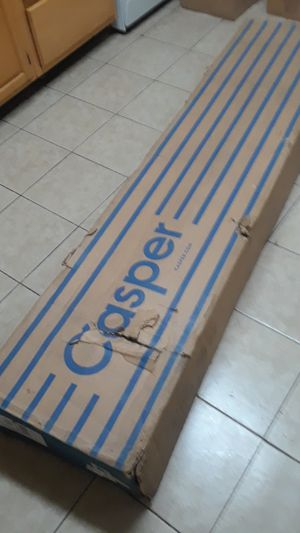 CASPER (QUEEN SIZE) METAL AND WOOD UPHOLSTERED PLATFORM BED FRAME BRAND NEW IN BOX for Sale in Lebanon, PA