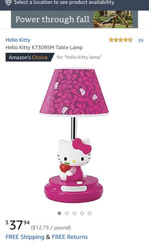 Hello kitty table lamp for Sale in Bell Gardens, CA