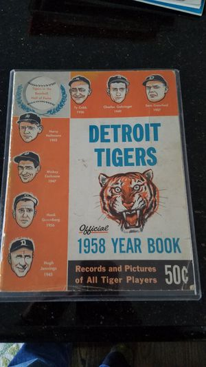 1958 Detroit Tigers yearbook for Sale in Grosse Pointe, MI