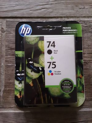 Hp Printer Ink 74 & 75 for Sale in Bellingham, WA