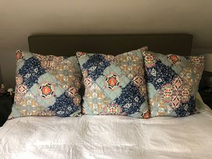 Pottery Barn Euro quilted shams for Sale in Bolton, MA