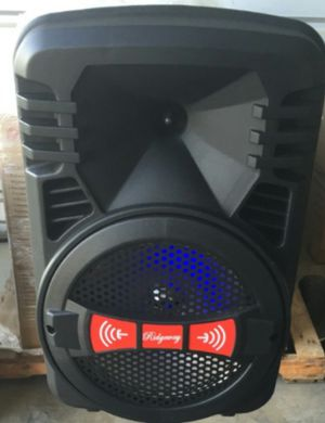 """New 8""""Bluetooth speaker DJ Kareoke style comes with microphone and remote brand new in box FM radio Thumb drive player Mini SD card player for Sale in Bakersfield, CA"""