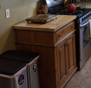 FREE Cabinet with Butcher block counter top for Sale in Dracut, MA