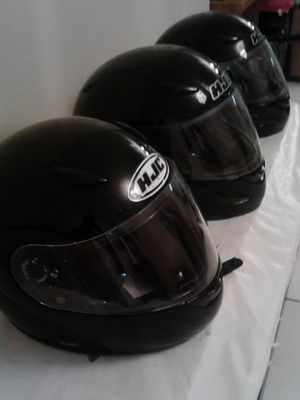 3 identical motorcycle helmets /clear visors for Sale in Tampa, FL