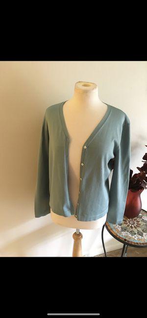Lauren Ralph Lauren women's size large green cardigan long sleeves for Sale in Moon Township, PA