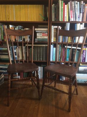 Pair of antique wooden chairs for Sale in Columbus, OH