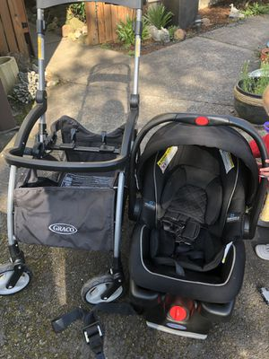 Graco car seat, base, snap and go stroller for Sale in Beaverton, OR