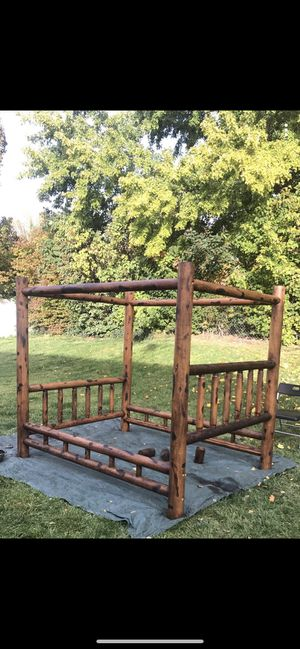 Queen Bed Frame w/ 1 yr old mattress & box spring(nice) for Sale in West Jordan, UT
