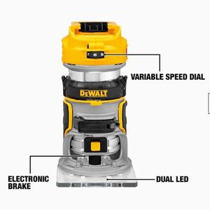 DeWalt 1/4-in Variable Speed Brushless Fixed Cordless Router (Bare Tool Only) for Sale in Las Vegas, NV