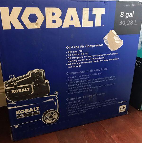 New in Box Kobalt 8 Gal. Air compressor $150
