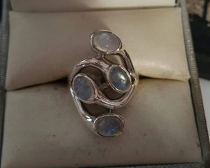 92.5 Sterling Silver Modern 8ctw Rainbow Moonstone Ring. for Sale in Pawtucket, RI
