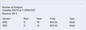 Dodger tickets for Sale in Rancho Cucamonga, CA