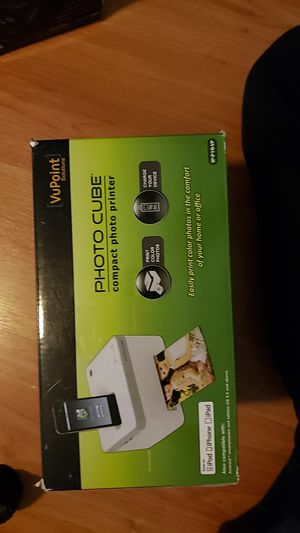 Vupoint photo cube compact photo printer for Sale in Clermont, FL