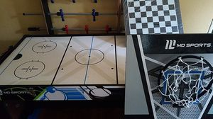 Convertible game table with foosball, air hockey, basketball, and pingpong for Sale in Tigard, OR