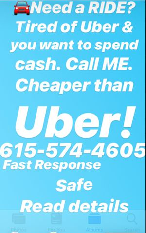 🚘 Need a RIDE... TRY CASH RIDES!!! Read Details, cheaper than UBER! for Sale in Detroit, MI