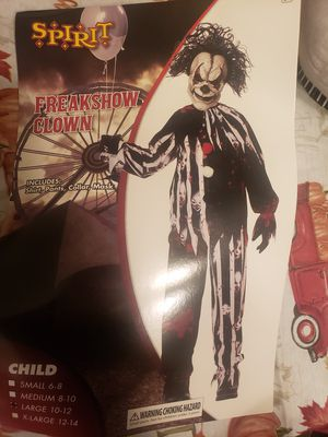 FreakShow Clown Halloween Custome for Sale in Tucson, AZ