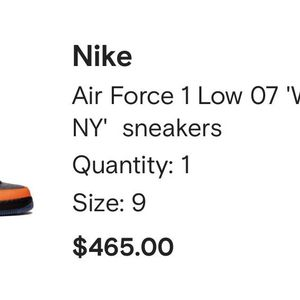 Designer Air Force 1's New York size 9 for Sale in Miami, FL