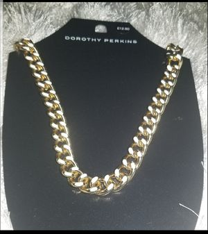 New!!!! Gold and white etched chain necklace for Sale in Bethesda, MD