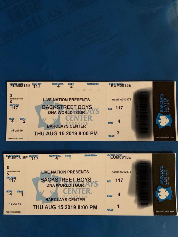Backstreet Boys tickets 8.15.19