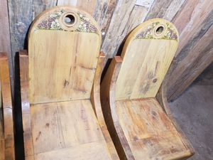 Three Handmade wooden chairs for Sale in Enumclaw, WA