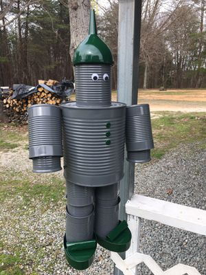 Tin man (home made) hang on your porch $25 for ones without sports logo for Sale in REPUBLICN GRV, VA