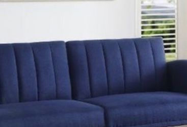 Brand New Blue fabric sofa sleeper Cash price or $39 Down / / Financing available no credit need it Miriam's furniture 🪑 719 *E *9th *Street Hialea for Sale in Miami,  FL