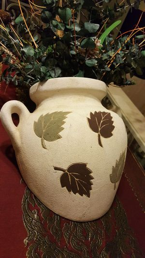 One hard Ceramic, stone like texture fake plant for Sale in Harrisonburg, VA