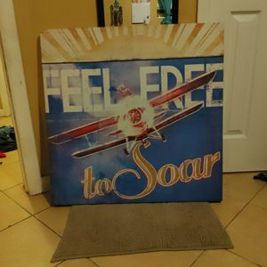 Vintage Looking Picture On Canvas (Airplane) for Sale in Tarpon Springs, FL
