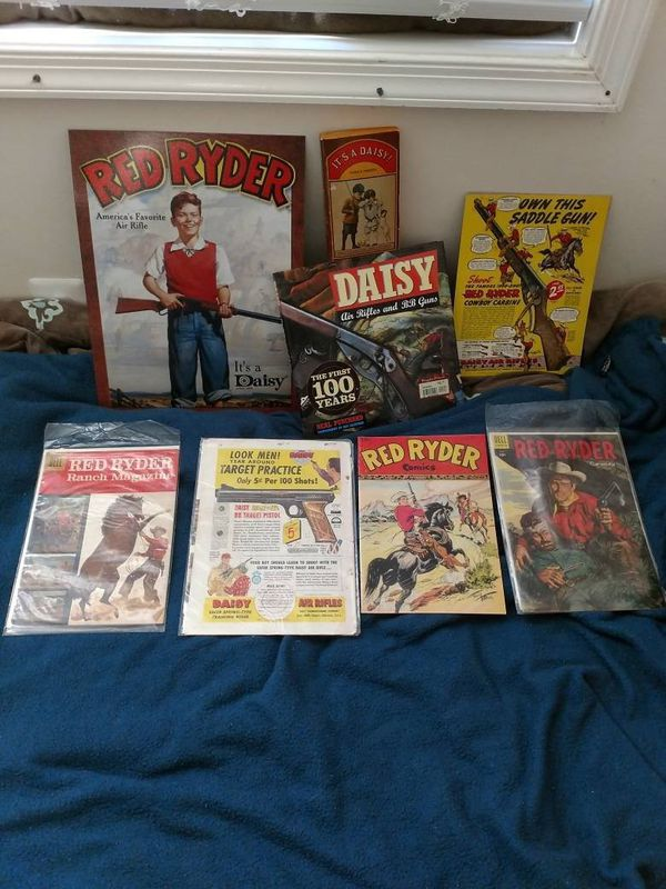 Vintage Red Ryder comics, books and ads