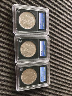 Three Morgan Silver Dollar Coins for Sale in Santa Ana, CA