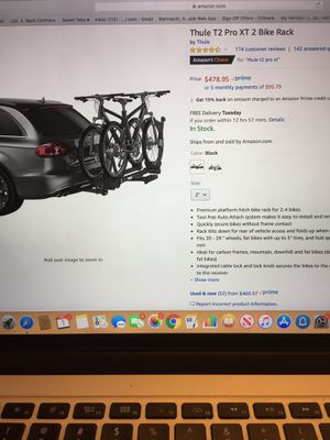 Thule bike rack with add on (4 bike) for Sale in Valley Stream, NY