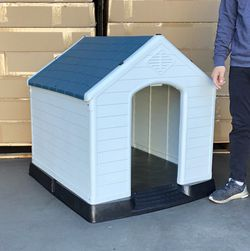 $110 (new in box) waterproof plastic dog house for large size pet indoor outdoor cage kennel 36x34x38 inches for Sale in Whittier,  CA