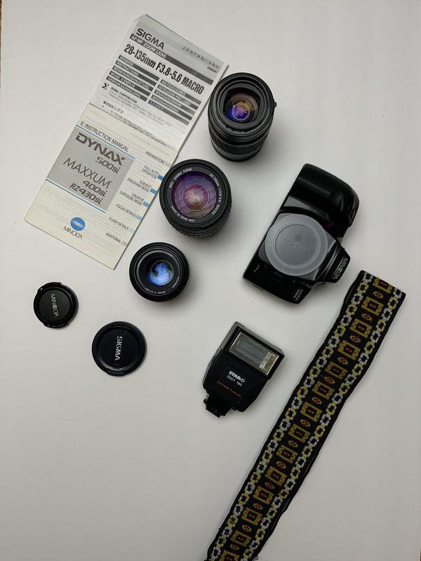 Minolta 400si With 3 Lenses