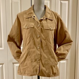 OUTBACK TRADING COMPANY Women's Microsuede Tan Western JACKET Size Large L for Sale in Federal Way, WA