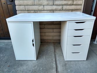 Ikea Alex Drawer Cabinet Linnmon Table Desk Gaming Vanity Sewing for Sale in Los Alamitos,  CA